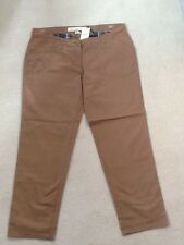 NEXT Ladies Mid Brown Maternity Chino Trousers - Size 20 Reg - New with Defect