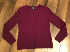 ladies Lord&Taylor 100% cashmere cardigan sz.S/P/CH/maroon