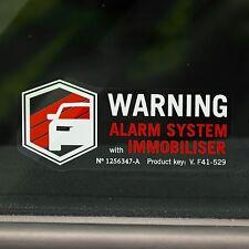 4 ALARM STICKERS Warning Decals for Car, Van,Truck Vinyl VEHICLE SECURITY