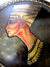 Egyptian Queen Nefertiti Brass Engraved Hand Made Plate-Many Patterns 11 3/4""