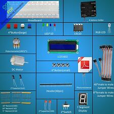 New Project Starter Kit for Arduino Compatible LCD1602 Breadboad DC Motor NO UNO