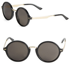 GUCCI Women Round Sunglasses GG 1156/S ANWNR Gold Black Gray