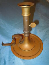 ANTIQUE ART NOUVEAU HEAVY BRASS PUSH UP CANDLESTICK CANDLE HOLDER QUALITY OLD