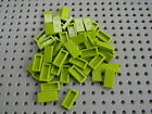 Lego Lot of New 1 x 2 Lime Green Tiles - New Condition!!