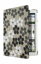 Lente Designs® Apple iPad 2, 3 or 4 cover / case in 'Grey Flower' design