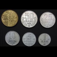 Moldova Set 6 Coins,1 ban + 5+10+25+50+50 bani , 1993-2005, UNC