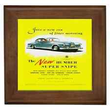 HUMBER SUPER SNIPE 1953 REPRO POSTER CERAMIC FRAMED TILE - WALL DECO, GREAT GIFT