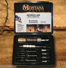 Montana Brand MB-63123 10 Pc 4 in 1 Modular Drill Driver Countersink Made in USA