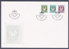 2001 NORWAY FDC POSTHORN  1,2  and 6 kroner  NK 1421-23