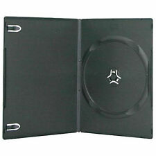 50 X Single Slimline DVD Case Black 7mm Spine With Clear Front Cover Sleeve
