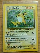 Raichu Holo Base Set Pokemon Card 14/102