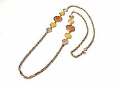 Bijou alliage doré collier créateur sautoir Sarah Coventry  necklace