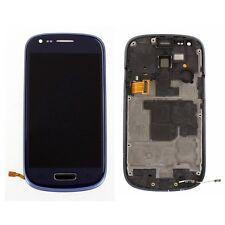 Blau LCD Display Touchscreen Komplett Rahmen Für Samsung Galaxy S3 Mini i8190