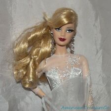 Barbie 2008 HOLIDAY 20TH ANNIV Model Muse Doll w/Rooted Lashes Silver Snowflake