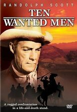Ten Wanted Men, Very Good DVD, Randolph Scott, Richard Boone, Lee Van Cleef, Den