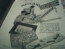 ephemera 1947 advert meccano limited liverpool quality toys are in the shops aga