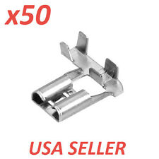 (x50) NON-INSULATED FLAG CRIMP TERMINALS, 6.3MM, 12-16 AWG