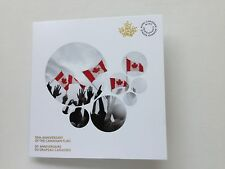 2015 50th Anniversary Canadian Flag Card Holder Folder with 2 quarters 25 cent