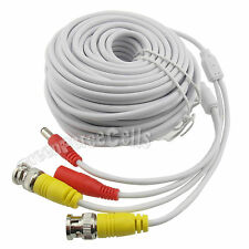 20M 66ft CCTV Video Power Camera Security Surveillance BNC +DC Power Cable White