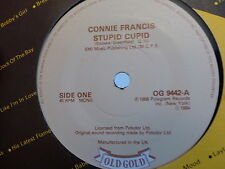 CONNIE FRANCIS Stupid cupid Carolina moon OG 9442 OLD GOLD