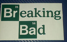 Heisenberg BREAKING BAD Walter White Vinyl Decal Sticker Car Mac Ipad