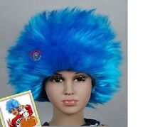Thing 1 Thing 2 ADULT SIZE WIG, Blue Straight, Dr Suess Seuss The Cat in The Hat