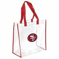 NFL San Francisco 49ers Clear Reusable Plastic Tote Bag NFL 2016 Stadium Aproved