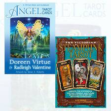 Victorian Steampunk Tarot,Angel Tarot Cards 2 Books Collection Set BrandNew Pack