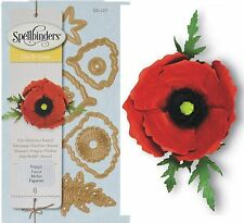 SPELLBINDERS CREATE A FLOWER POPPY DIE D-LITES - NEW UNIVERSAL FIT