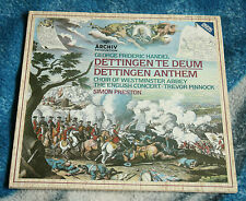 HANDEL DETTINGEN TE DEUM 1984 GERMAN LP ARCHIV  410 647-1 SIMON PRESTON