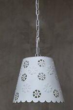 Hängelampe Lampe antik Hängeleuchte shabby Vintage Metall Landhaus weiß Küche