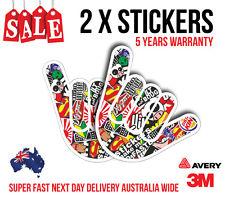 2 x SHOCKER HAND BOMB JDM Sticker, Car sticker for turbo, fast cars 160mmx110mm
