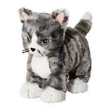 IKEA New LILLEPLUTT Soft Toy, Grey Cat, Gift, 25 cm