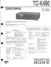 Sony Original Service Manual per TC-K 490