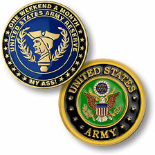 NEW U.S. Army Reserve - One Weekend a Month Challenge Coin. 78148.