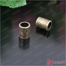 (26634)100g,about 64-66PCS 10*8MM Antique Bronze Metal Alloy large hole beads