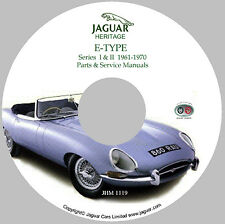 Jaguar XKE (Series I & II) E-Type Workshop Parts and Service Manual CD '61 - '70