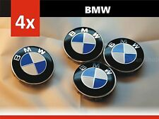 4 Pcs 68mm BMW Blue Genuine Emblem Logo Badge Hub Wheel Rim Center Cap