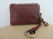 HANDMADE BROWN LEATHER WRISTLET CELL PHONE CASE WALLET