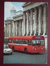 POSTCARD LONDON TRANSPORT MBA TYPE BUS ON RED ARROW ROUTE 505 PASSING THE NATION