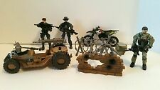 Lanard CORPS Vehicle Motorcycle Assault Buggy Military Action Figure Weapons Lot