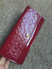 NEW COACH F52458 SOFT WALLET IN LOGO EMBOSSED PATENT LEATHER