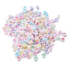 1000PCs Acrylic Alphabet Beads Engrave Letters Jewelry Finding Love Heart Mixed