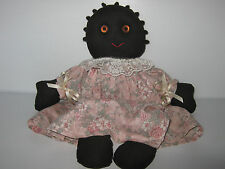 Vintage Black Americana Handmade Rag Doll By Susan Straw Numbered 10/89 History