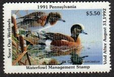 PA9 Pennsylvania State Duck Stamp.1991.   Single. MNH.