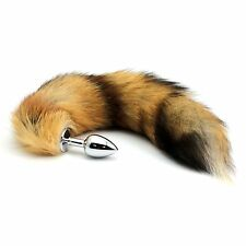 Small Plug Stainless Steel Fox Tail Toy Stopper Cosplay Costume Fancy Dress Gift