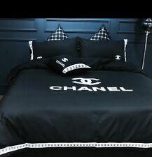 Versace To Bonjour Coco Monogram Black 4 Piece Set 100% Cotton  Queen size
