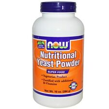 NUTRITIONAL YEAST POWDER NOW FOODS 284 GM ADDED B VITAMINS BREWERS YEAST