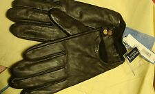 VERA WANG GENUINE BROWN LEATHER GLOVES ONE SIZE BNWT