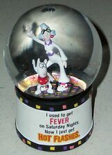 Maxine Senior over the hill Disco 70s Glitter Ball dog water snow globe Novelty